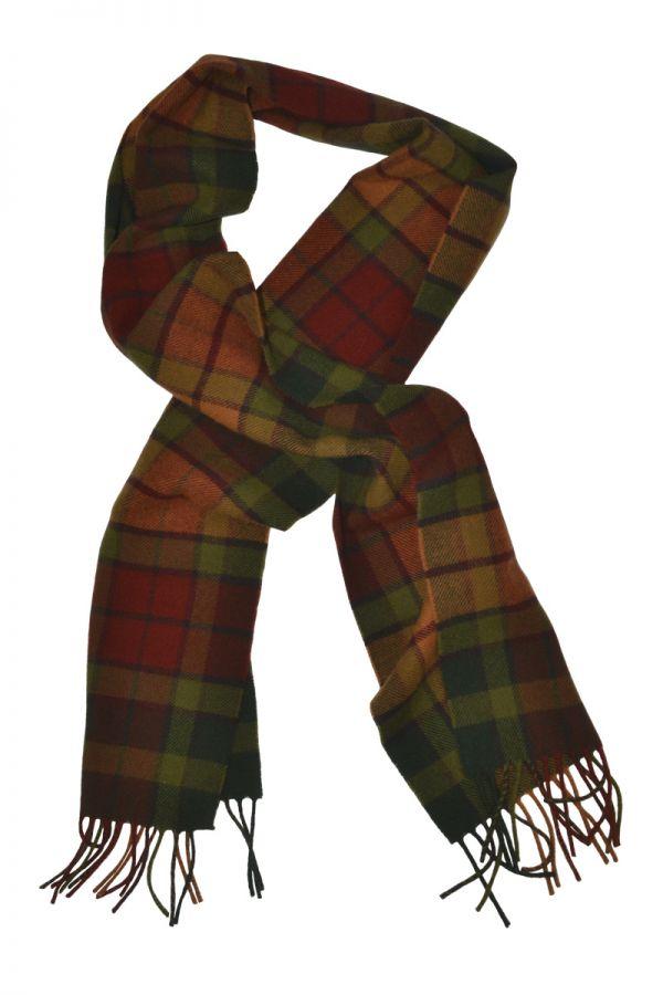Autumn Buchanan Tartan Scarf. Scottish Lambs wool