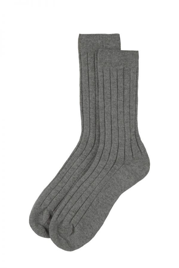 Mens Scottish Cashmere Socks - light grey