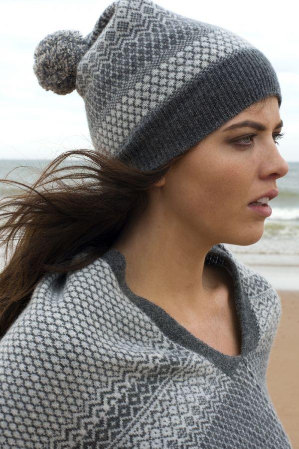 Trellis Fair isle ski hat - Navy
