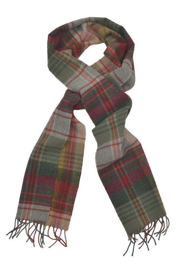 tartan lambs wool scarf mossat red green plaid