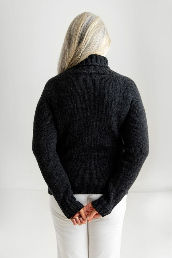 ladies charcoal grey jumper sweater charcoal grey back
