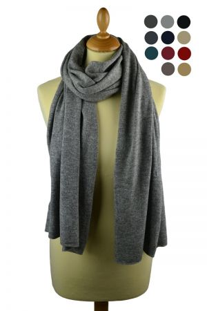 Scottish Cashmere Knitted Plain Stole