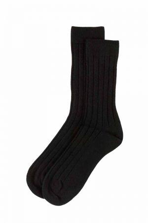 Mens Scottish Cashmere Socks - black