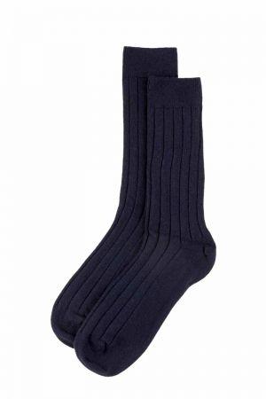 Mens Scottish Cashmere Socks - navy