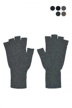 Mens Scottish Lambswool Fingerless Gloves