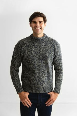 Mens Chunky Roll Neck Jumper - Cromarty