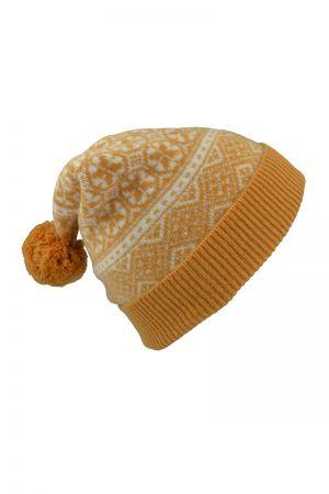 Rubislaw Fair isle Ski hat - Gold