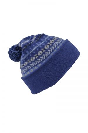 Ugie Fair isle Ski hat - Blue