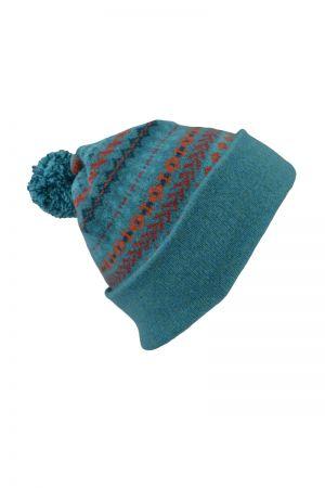 Ugie Fair isle Ski hat - Teal