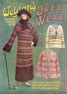 Fair isle knitting in the 1920s