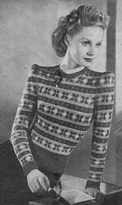 Fair isle knitting in the 1940s