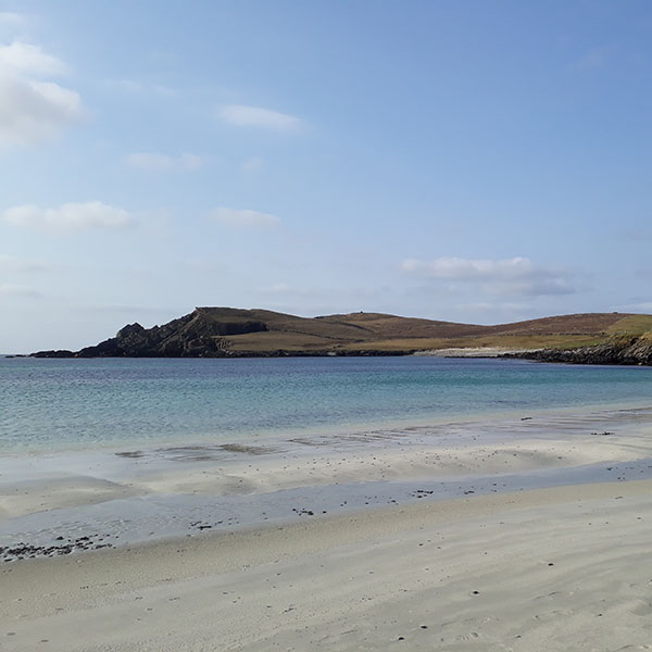 Shetland silver sand beach
