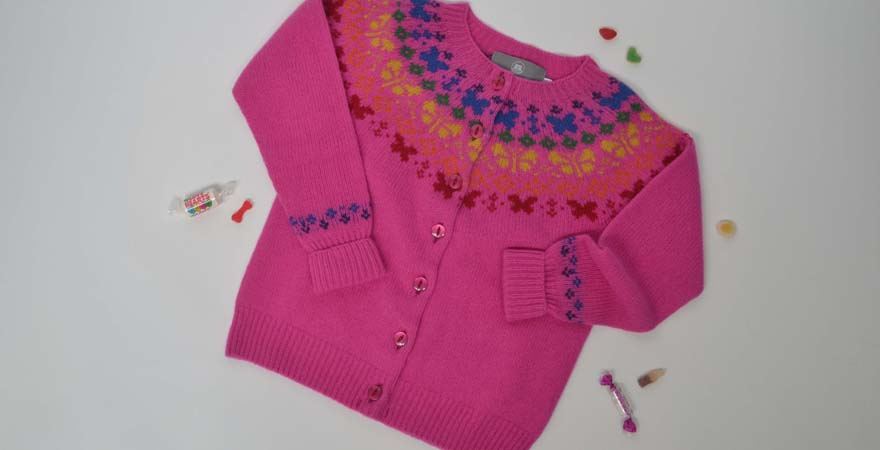 Girls fair isle cardigans and jumpers