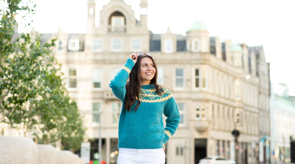 Spring 2021 womens wool jumpers and cardigans. fair isle
