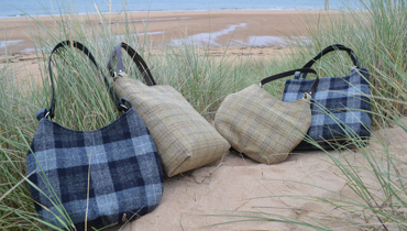 New colours of our Harris tweed bags