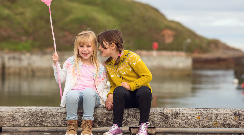 Girls fair isle knitwear