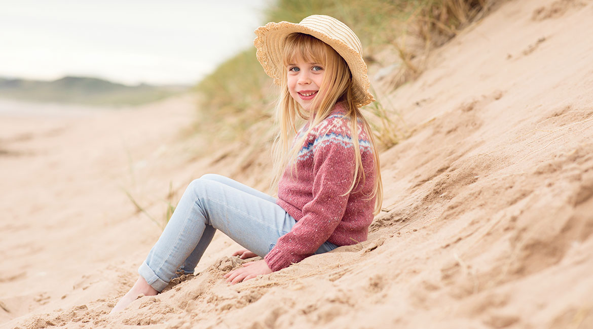 Girls fair isle wool jumpers and cardigans