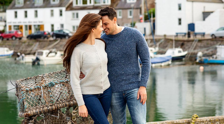 Mens Scottish knitwear Jumpers Sweaters Merino wool