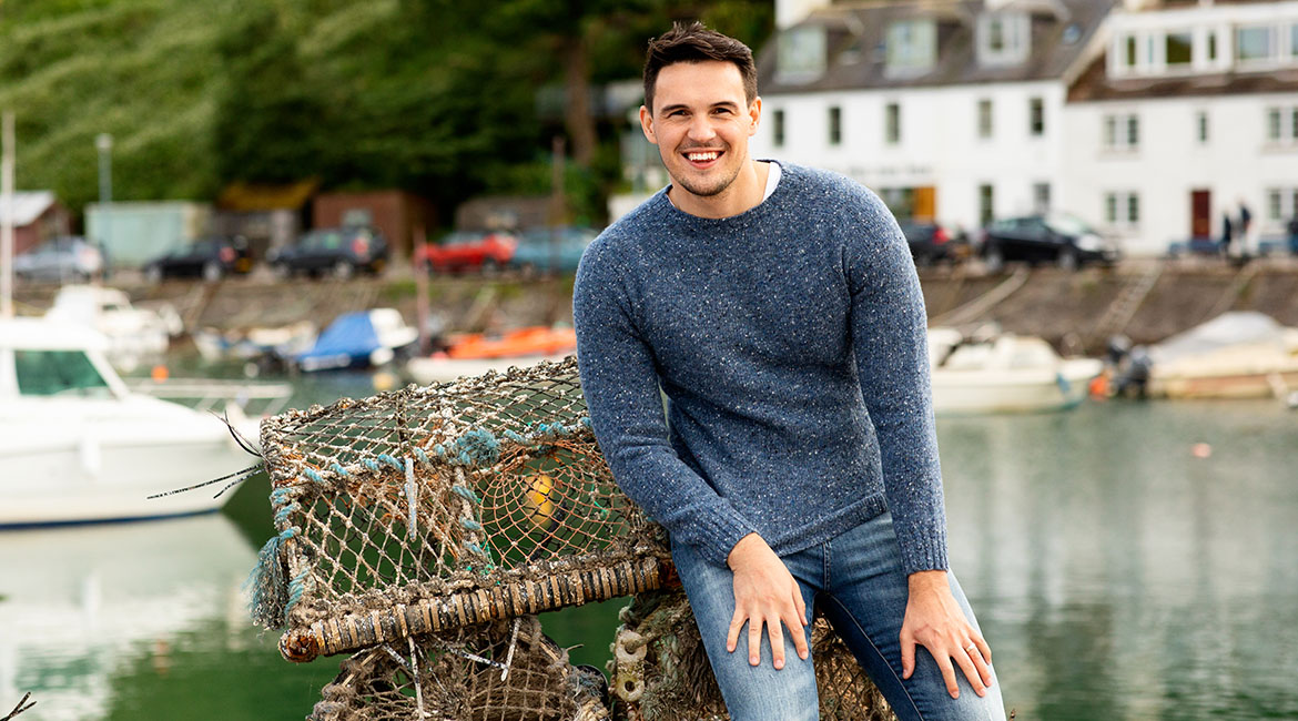 Mens Scottish knitwear Jumpers Sweaters wool for Summer