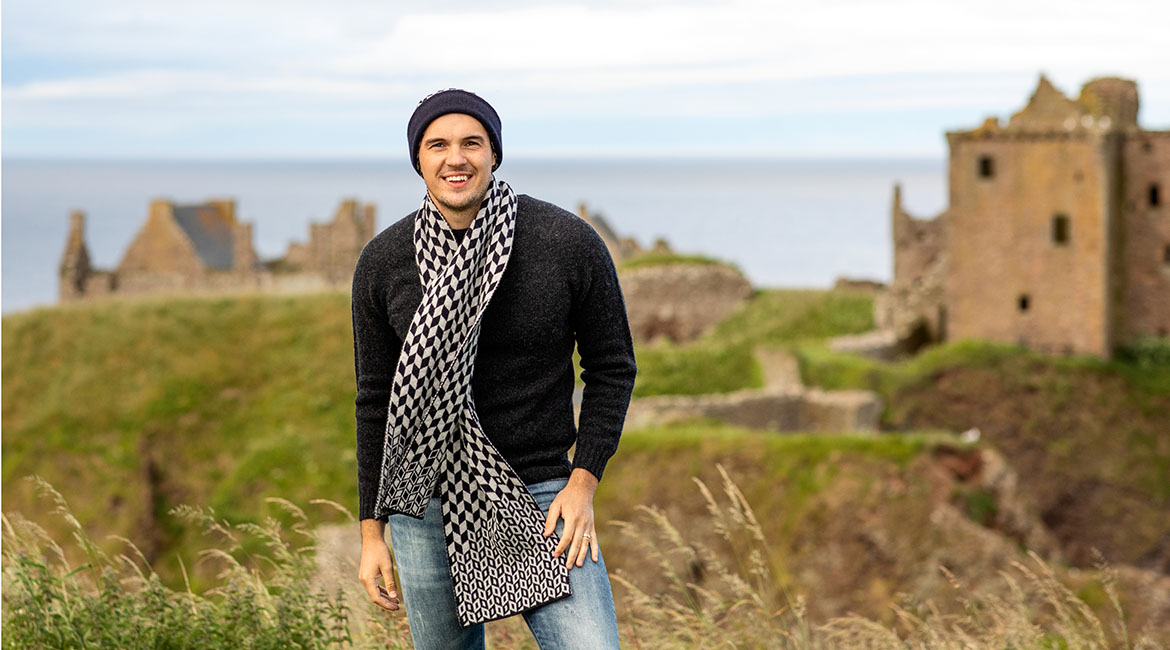 mens wool scarves. gloves and hats fair isle