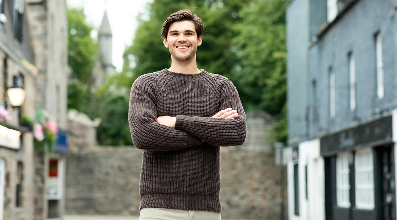 Mens Scottish knitwear Jumpers Sweaters wool fair isle
