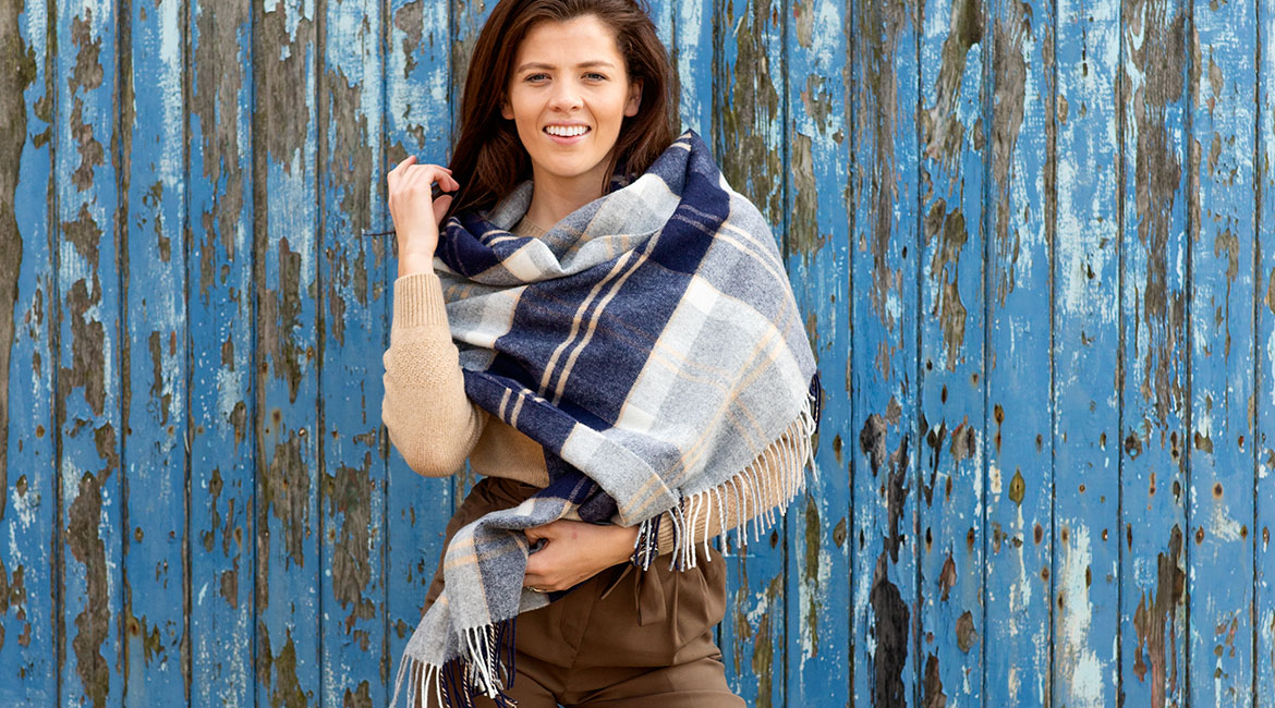 womens wool and cashmere scarves and accessories