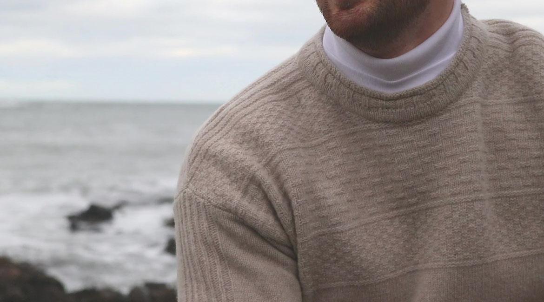 Mens Breakwater shetland Gansey Jumper