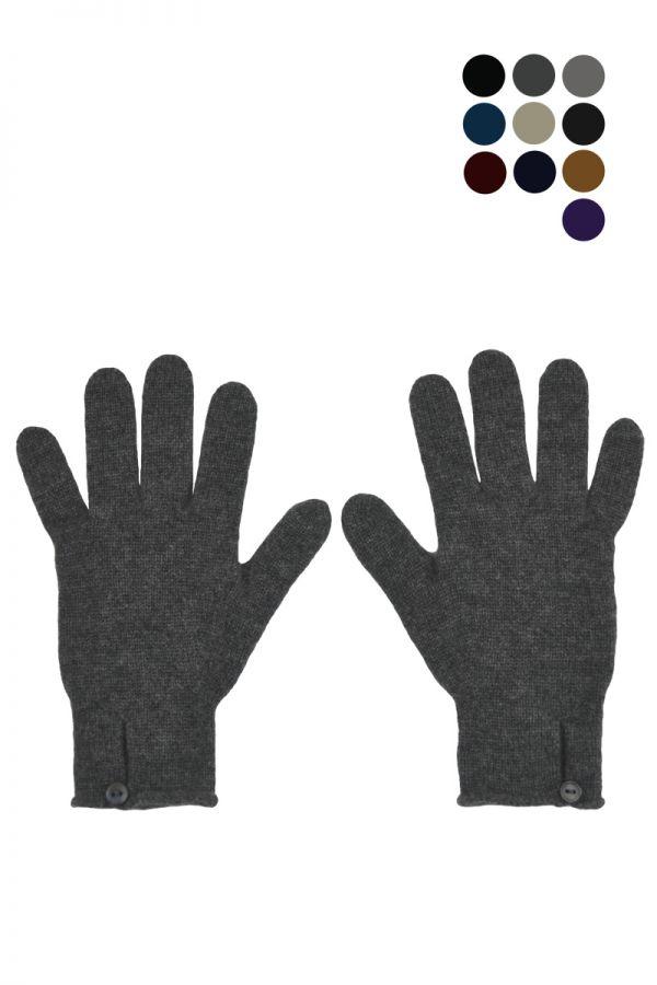 Ladies Scottish Cashmere Button and Loop Glove
