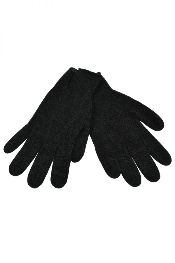 Womens Scottish Cashmere Button and Loop Gloves