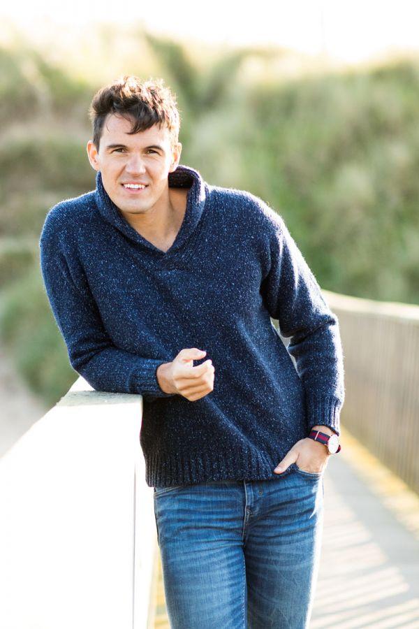 mens shawl collar jumper sweater blue navy wool