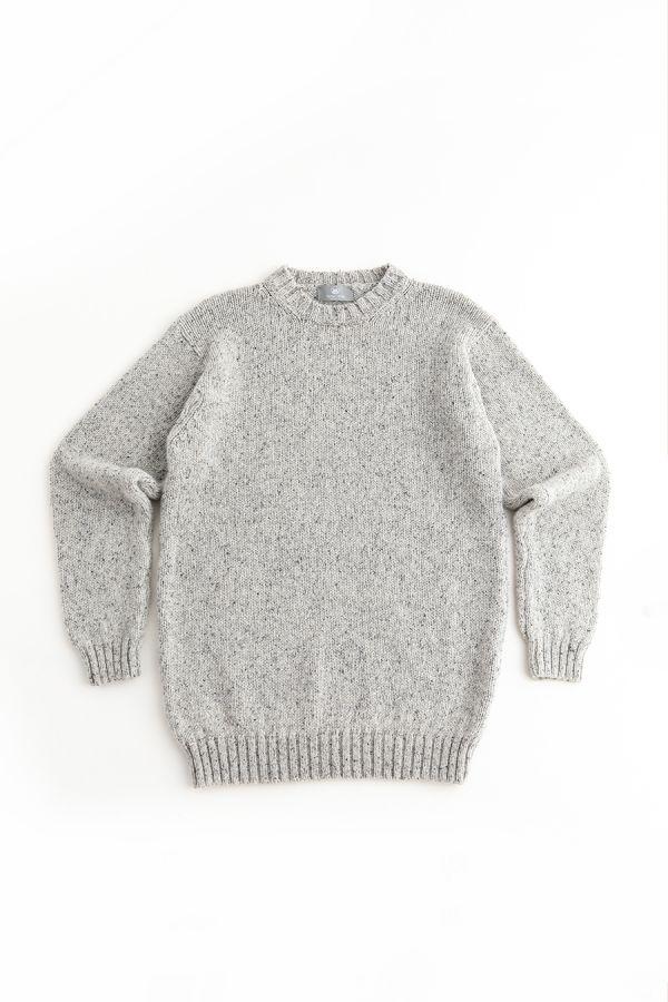 mens chunky wool jumper sweater grey gray limestone