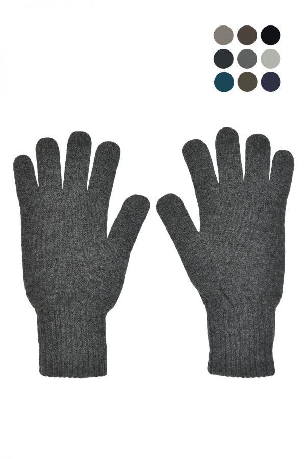 Mens Scottish lambs wool classic gloves