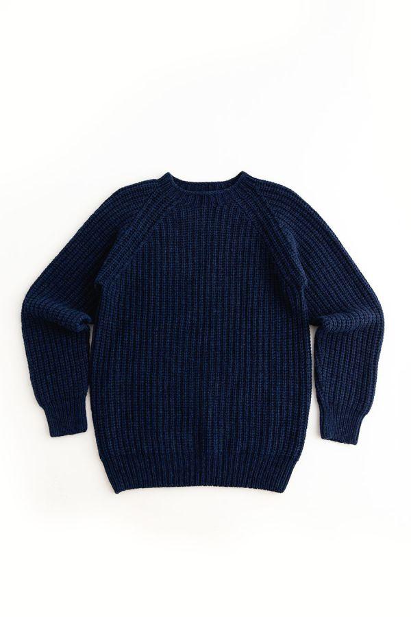 mens navy blue fisherman rib jumper sweater soft lambs wool geelong