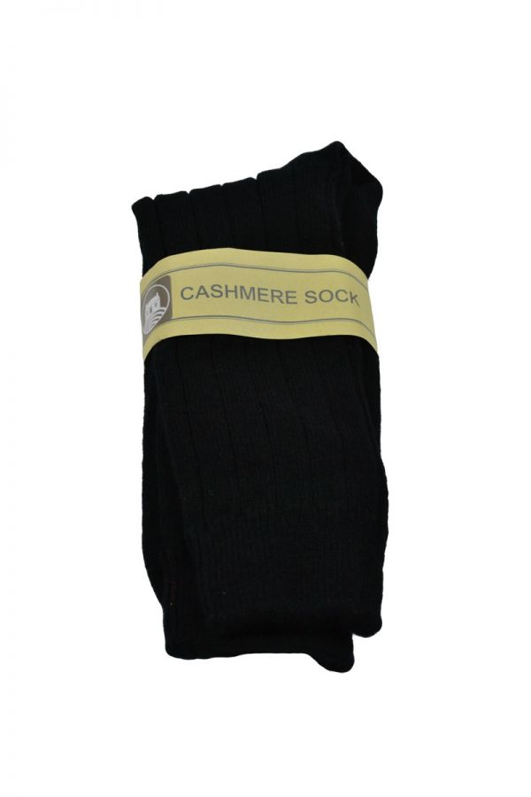 Mens Scottish cashmere socks. Black