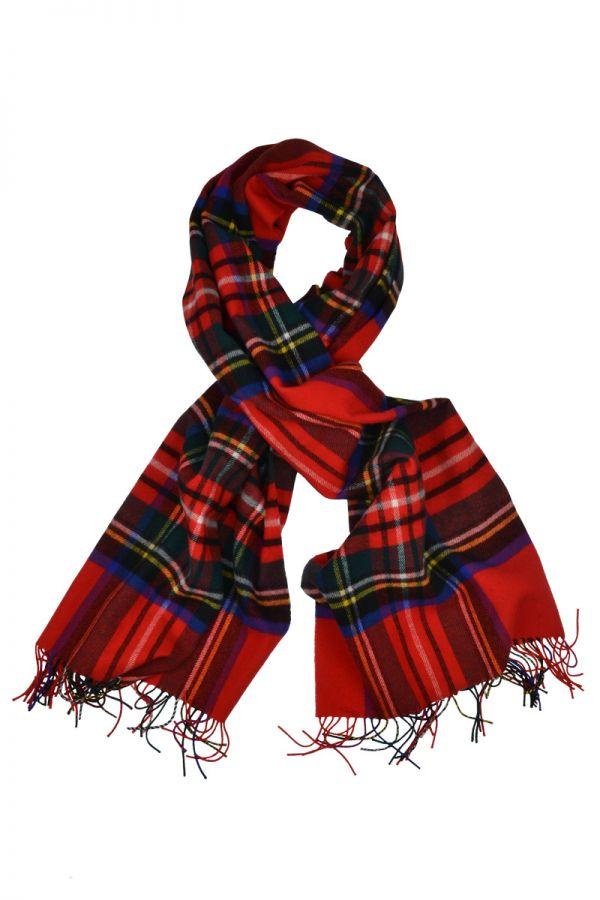 Royal Stewart Scottish Lambs wool Tartan Blanket Scarf Stole