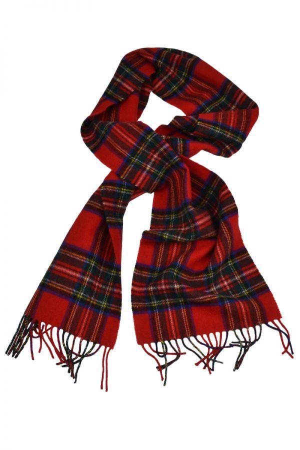 Scottish Lambswool Tartan Scarf. Royal Stewart