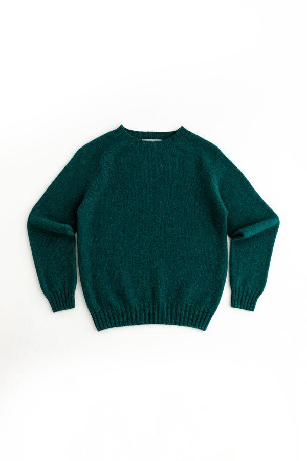 womens emerald green wool jumper sweater shetland saddle shoulder