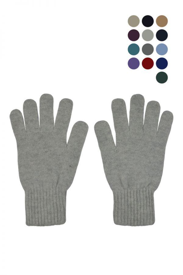 Womens wool gloves classic. Scottish lambswool
