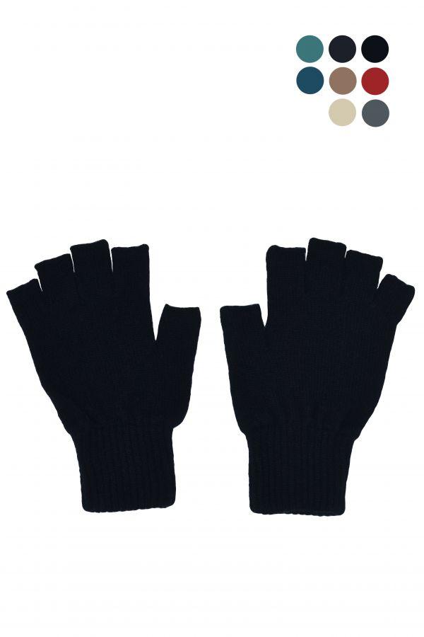 Womens wool fingerless gloves. scottish lambswool