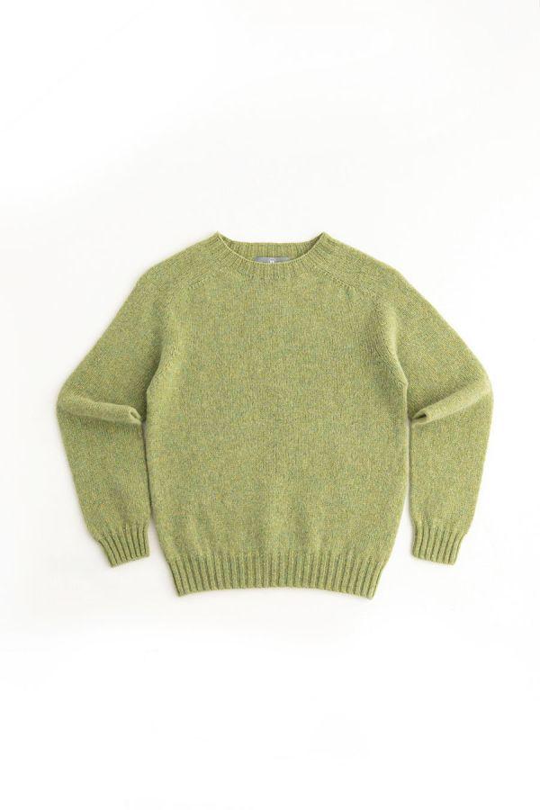 womens lime green wool jumper sweater shetland saddle shoulder