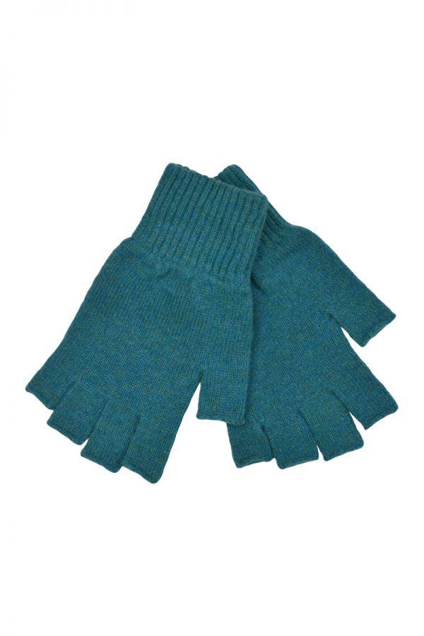 Womens Scottish Lambswool Fingerless Gloves