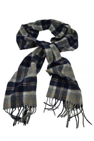 Scottish Lambswool Tartan Scarf - Silver Bannockbane