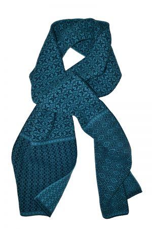 Rubislaw Reversible Fair isle scarf - Teal