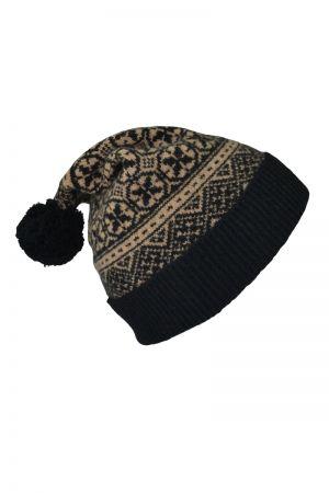 Rubislaw Fair isle Ski hat - Black