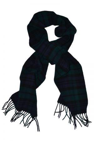 Scottish Lambswool Tartan Scarf - Black Watch