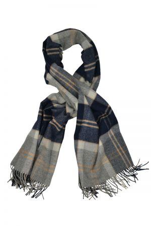 Scottish Lambswool Tartan Blanket Scarf - Silver Bannockbane